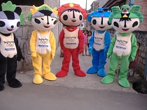 badut maskot olimpiade beijing